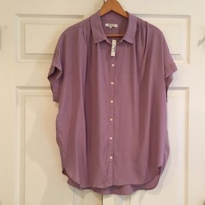 MADEWELL Button Down SS Top L